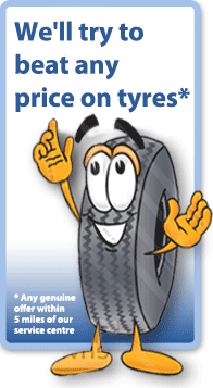 We will beat any price on tyres!